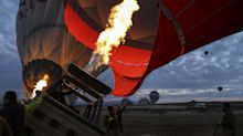 Hot air balloons over Turkey's Cappadocia