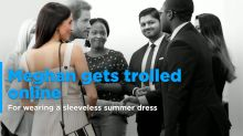 Meghan Markle subjected to online abuse for wearing a sleeveless summer dress