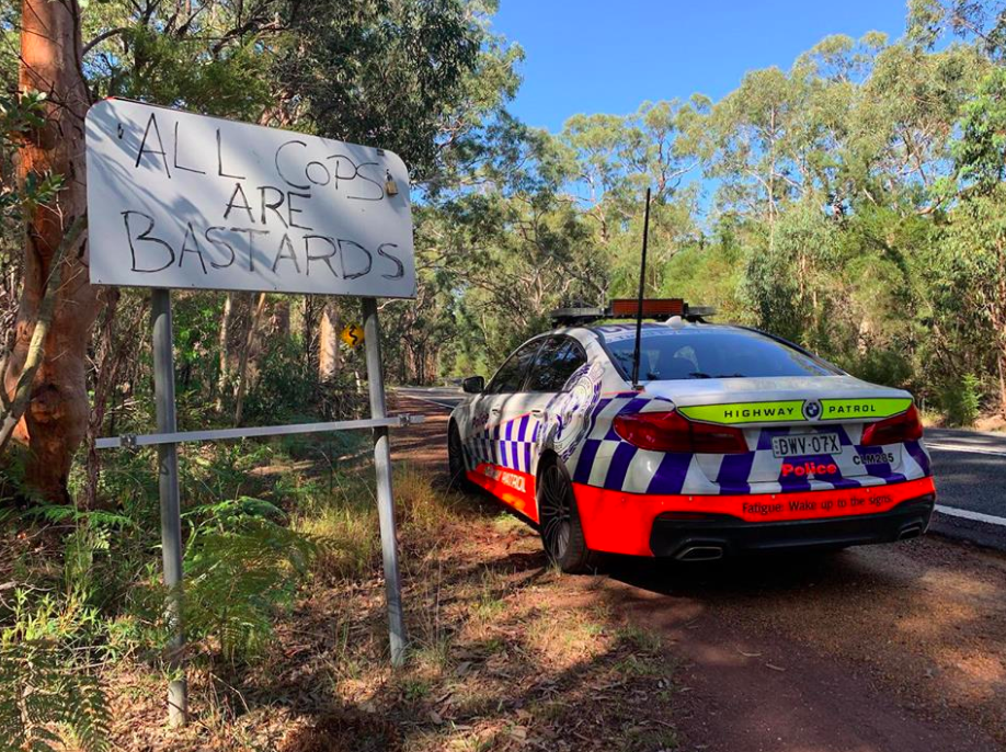 Police hit back at offensive graffiti targeting them