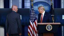 Trump tem discurso interrompido após tiros do lado de fora da Casa Branca