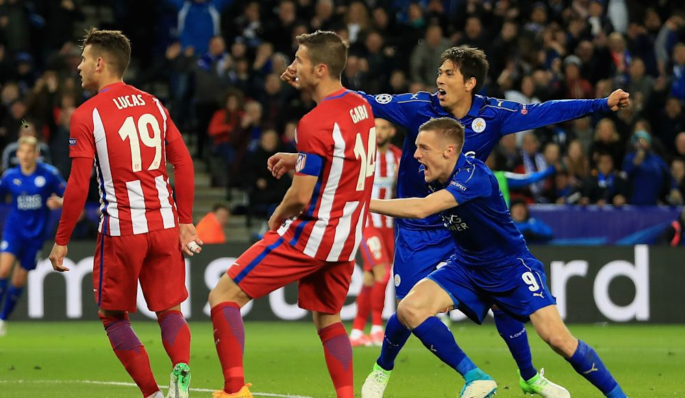 Vardy says Leicester 'left it all out on the pitch' after exiting Champions League to Atletico