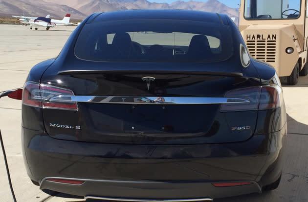 Tesla's upcoming 'D' looks like a souped-up Model S sedan