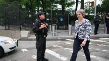 Theresa May warns Facebook and Google they face fines unless they block terror propaganda