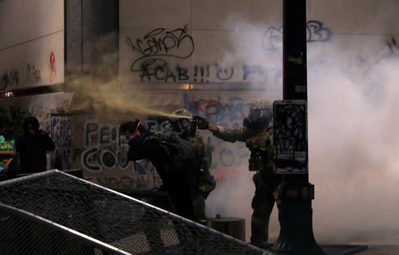 Trump, Portland mayor clash over causes of escalating unrest