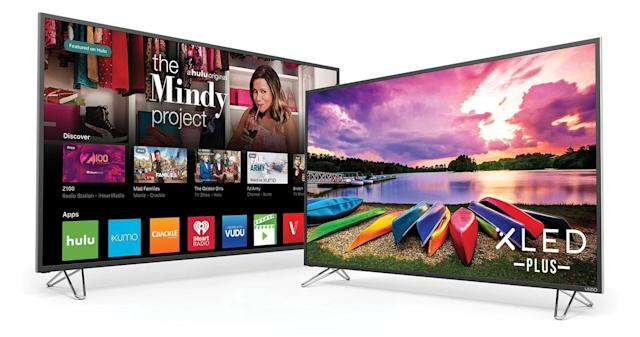 Vizio's color-rich M- and P-series 4K TVs go on sale