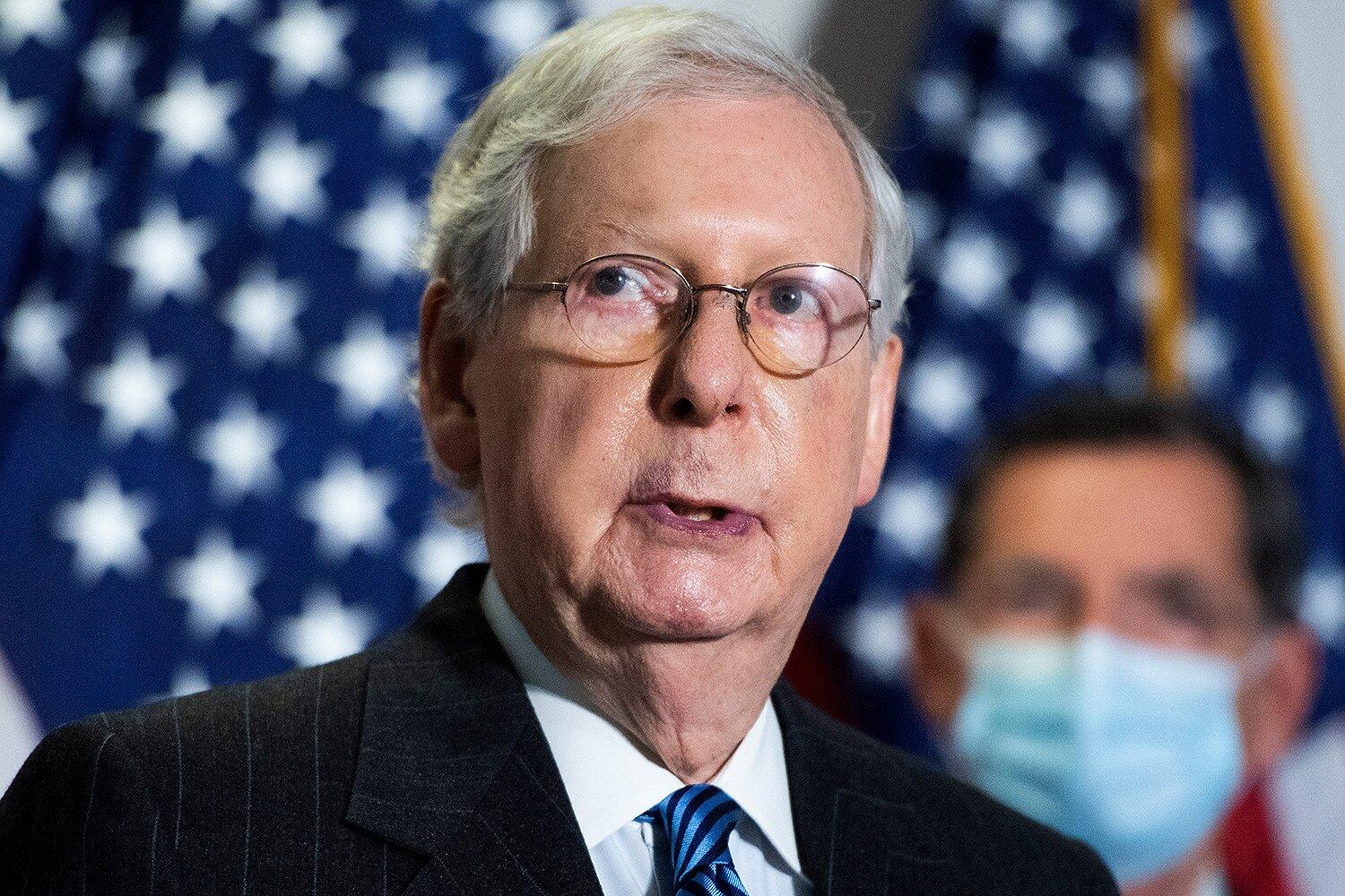 Mitch McConnell Waves Off Health Questions After Photos of ...