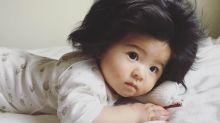 Haarpracht mit nur sieben Monaten: Baby wird zum Instagram-Star