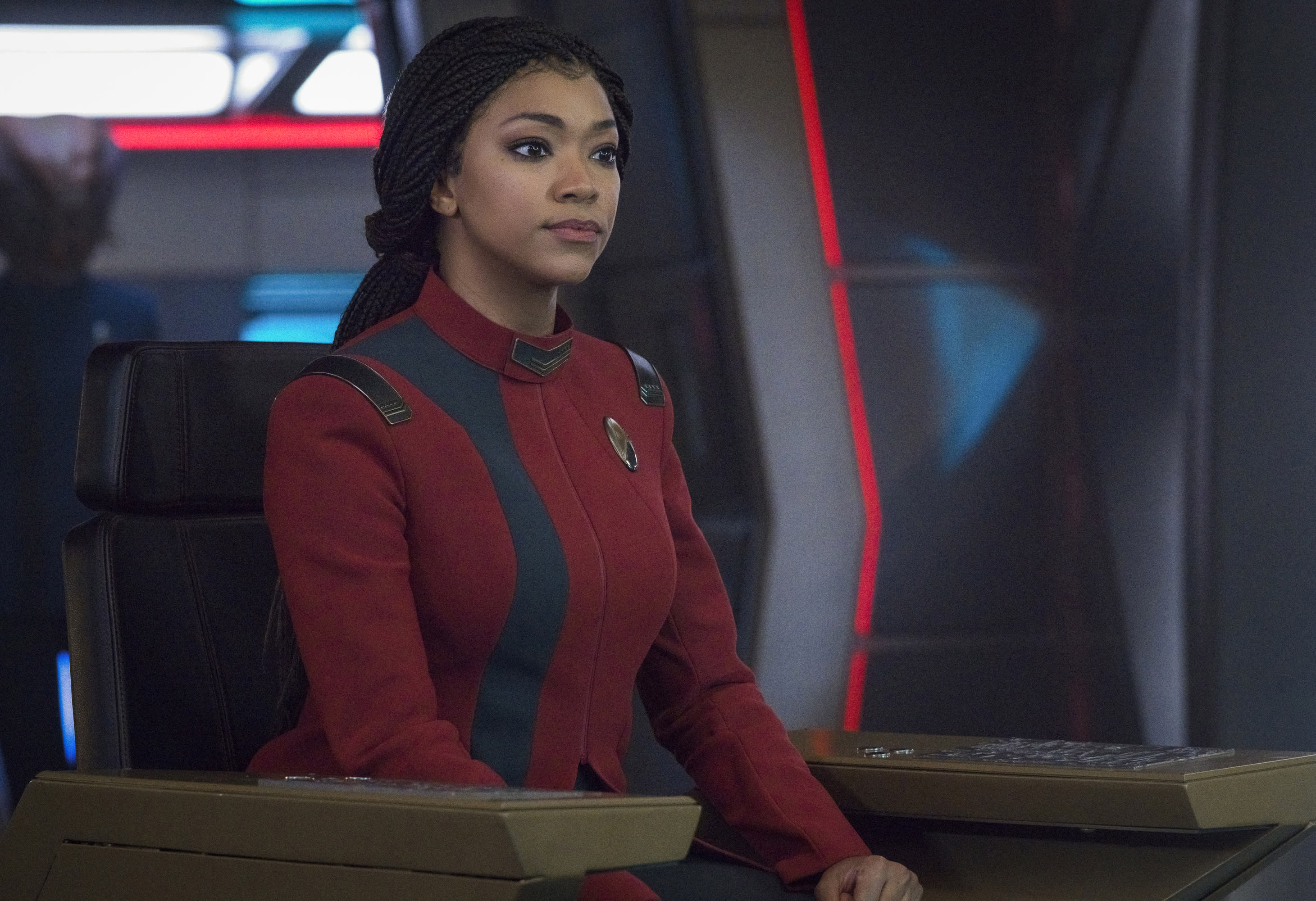 Sonequa Martin-Green as Burnham of the Paramount+  series STAR TREK: DISCOVERY. Photo: Michael Gibson©Paramount+ 2021, All Rights Reserved.