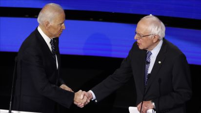Biden calls on Sanders to condemn threats