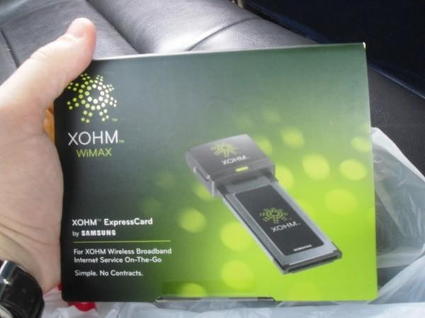 XOHM WiMAX tested in Baltimore, does work in cars