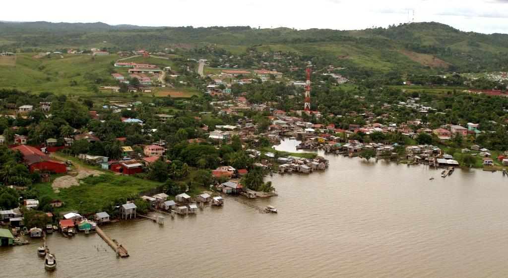 View of the Bluefields area of Nicaragua on January 1, 2005