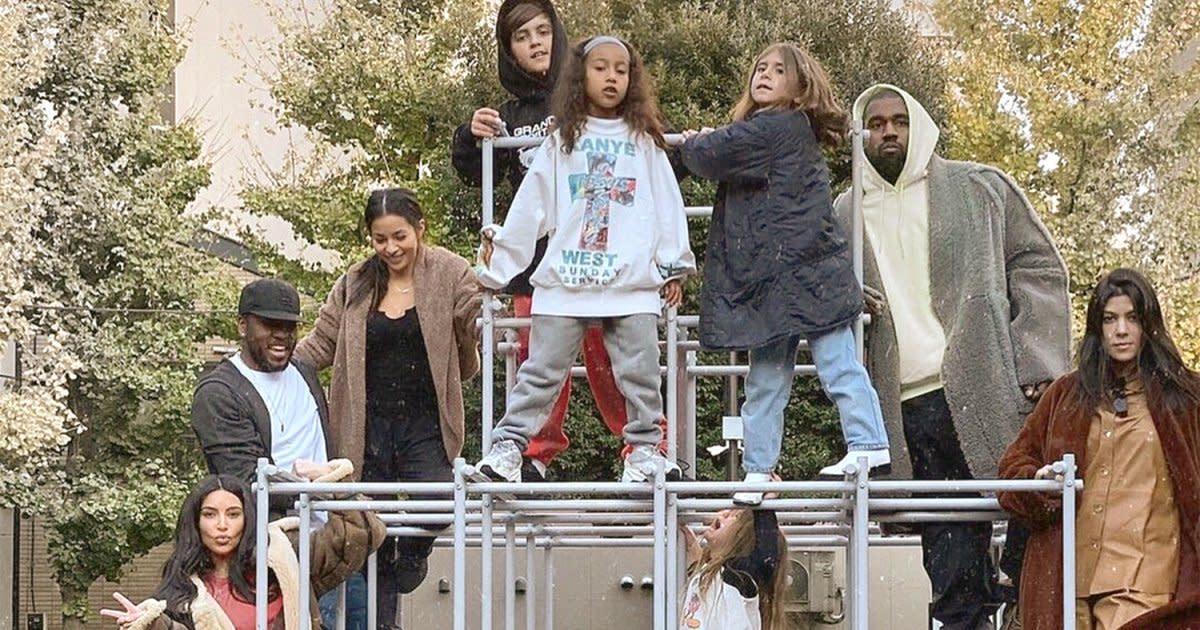 Kim Kardashian, Kanye West and Kourtney Kardashian Show Kids' 'Many Moods'  in Throwback Photo