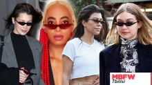 Bella Hadid, Kourtney Kardashian and Solange have all worn the teeny tiny sunglasses from this designer