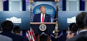 Trump pushes rosy outlook on COVID-19 crisis