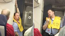 Cabin crew member's hilariously sassy safety routine goes viral