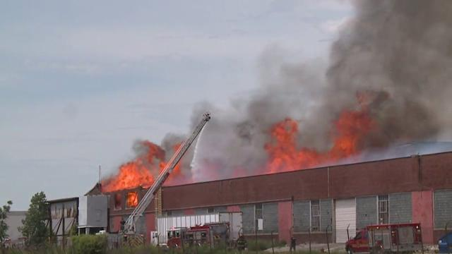 Warehouse Fire Forces People Out of Their Homes