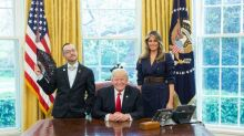 The story behind President Trump's 'little bit sassy' Oval Office photo with a queer teacher