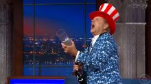Bill Murray unexpectedly barges onto 'Late Show' with T-shirt cannon