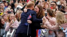 Moment Prince Harry hugs Australian teen and breaks royal protocol: 'You're going to get me into trouble!'