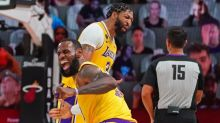 Lakers' defense cools off Heat, puts L.A. one win away from title