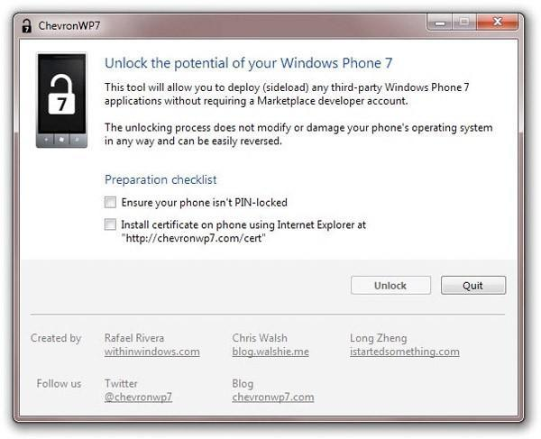 Windows Phone 7 gets user-friendly hack for bypassing the Marketplace, loading your own apps