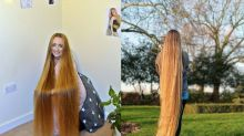 Meet the real-life Rapunzel who has hair longer than 5ft and hasn't cut it for over five years