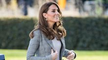 Duchess of Cambridge dresses in new Joseph trousers for charity visit