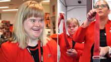 Young Down syndrome woman becomes Jetstar flight attendant