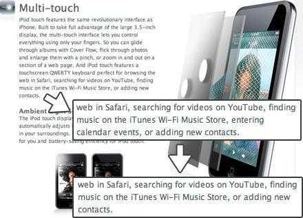 Apple confirms: iPod touch cannot add calendar appointments