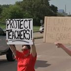 Parents at 2 school districts protest back to school plans