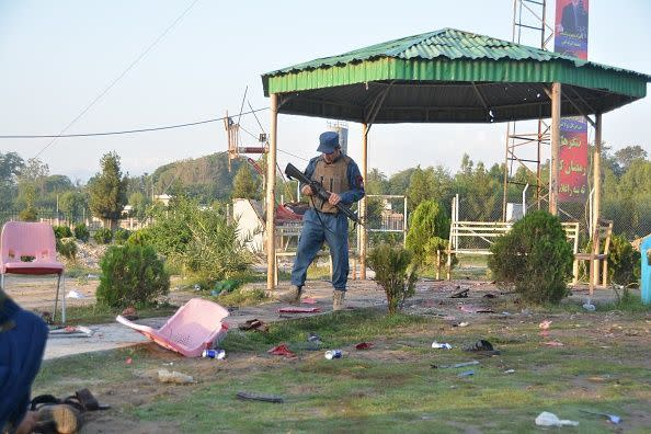 8 killed in multiple blasts in Afghan cricket stadium