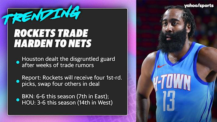 Rockets trade James Harden to Nets