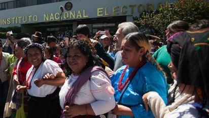 No México, indígena luta para disputar Presidência