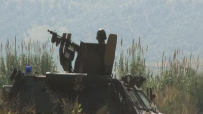 Raw: Syrian skirmishes near Turkey's border
