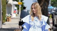 Jaime King Wears Ruffled Blouse From Fast-Fashion Site