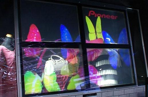 Pioneer shows off see-through projection tech for Minority Report-style signage