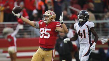 Gran día de George Kittle guía a 49ers sobre Broncos