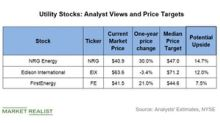 NRG, EIX, and FE: Wall Street Views and Price Targets