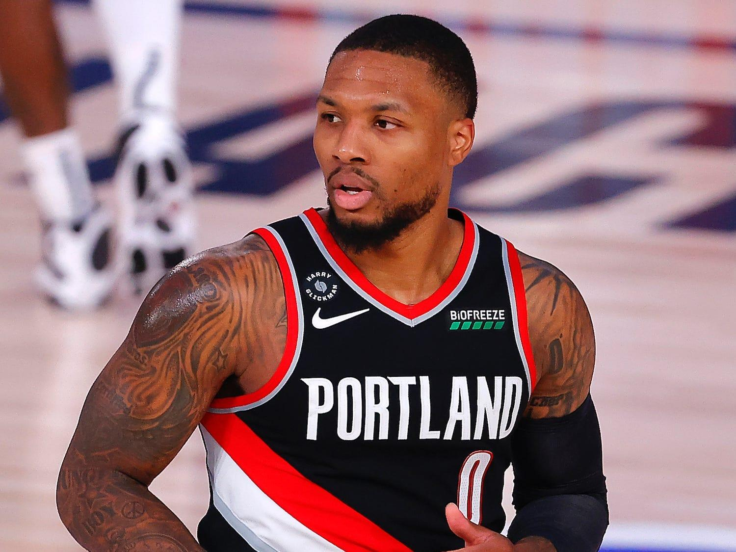 Damian Lillard willed the Blazers into the NBA play-in tournament by shooting from half-court and avoiding the 'right' play