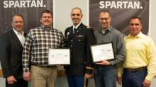 Spartan Motors Leadership Presented With Patriot Award Recognizing Workplace Support Of Active Military