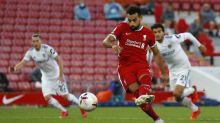 Salah calls on Champions League final heroics to down Leeds