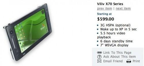 Viliv X70 Series MID headed to the US, starting at $599