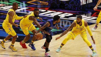 170-150. Antetokounmpo, como MVP, y Curry, líder, dan el triunfo al Team LeBron