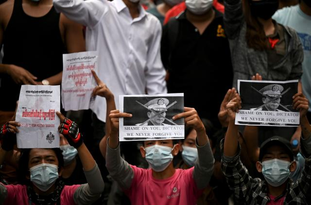 Myanmar shuts down internet to stifle anti-coup protests