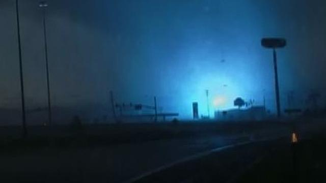 Extreme tornado rips through power lines