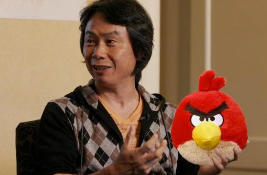 Shigeru Miyamoto admits he's a fan of Angry Birds, just like the rest of us