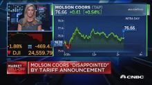 Molson Coors 'disappointed' by tariff announcement