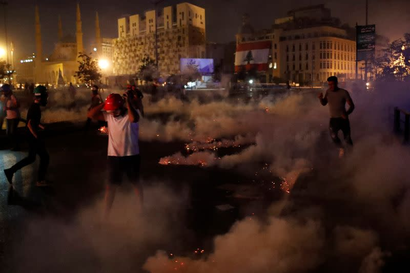 Protests called for in central Beirut days after devastating explosion