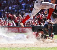 Witness the speed of Billy Hamilton when this Red Sox pick-off goes horribly wrong