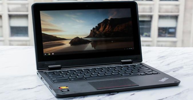 The Lenovo 11E Chromebook.